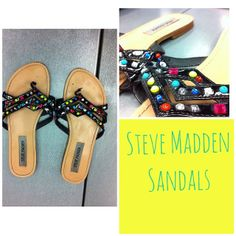 We've got tons of sandals so come check them out!! #platoscloset #platosclosetmob #stevemadden #cashforclothes #recycleyourstyle #stylesteal