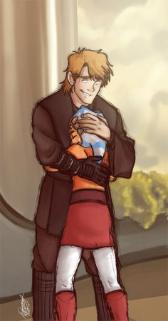 So adorable!! I think that Anakin actually would have been a fairly good father for Luke and Leia had things gone differently, because of his experience with Ahsoka.