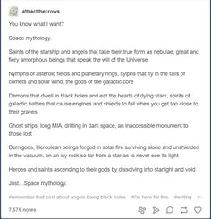 I love this idea! Putting together science fiction and mythology world be so cool, especially since everyone separates them.