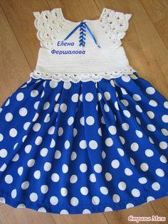 *Наряд для Машеньки. Ткань + крючок. [] # # #Apron, # #Pin #Pin, # #Crochet, # #Baby, # #Crochet
