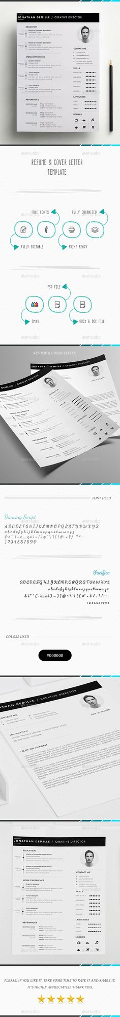 Resume Template PSD, AI, MS Word Resume Templates Pinterest - resume templates for it