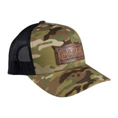When it comes to trucker hats, there can never be too many options. BRCC's latest hat features the classic logo design on a distressed leather patch. It's available in gray/black mesh, tan/brown mesh, and MultiCam/black mesh. Also available in Gray and Tan *Patches are handmade in the USA and may have slight variations Black Trucker Hat, Trucker Hats, Hat Quotes, Black Rifle Coffee Company, Harley Davidson Knucklehead, Combat Gear, Outdoor Brands, Cute Boots, Cool Hats
