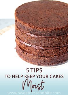 Easy tips to help keep your cakes moist. Covering everything from baking to using syrup and storing your cake. Find out all the secrets to stop your cakes drying out!