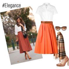 Designer Clothes, Shoes & Bags for Women Carven, Bottega Veneta, American Apparel, Burberry, Midi Skirt, High Waisted Skirt, Mango, Elegant, Skirts