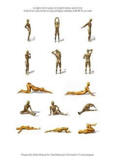 Warm up stretches
