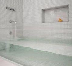 sternmccafferty custom glass bathtub - contemporary - bathroom - boston - by Stern McCafferty. Love this tub! Glass Bathtub, Deep Bathtub, Custom Glass, Beautiful Bathrooms, Luxurious Bathrooms, Home Interior Design, Kitchen Interior, Interior Livingroom, Modern Bathrooms