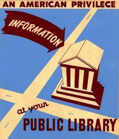 Vintage Library Week Poster