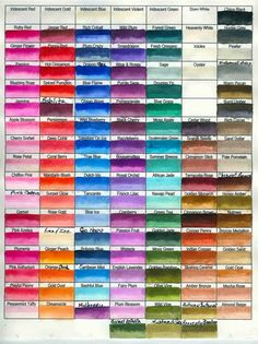 twinkling h20 color chart - Bing images