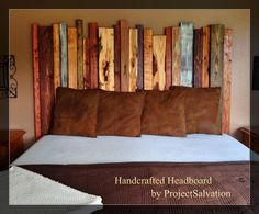 Handmade rustic home decor : Reclaimed Wood King size Headboard / Handcrafted Headboard.What a fabulous headboard, reclaimed wood is the best! Headboard Designs, Headboard Ideas, Fence Headboard, Grey Headboard, King Size Headboard, Headboards For Beds, Rustic Headboards, Reclaimed Wood Headboard, Wood Beds