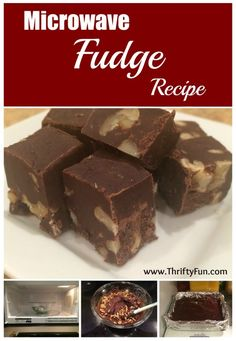 This is page contains easy microwave fudge recipes. A quick way to make fudge is by using your microwave.