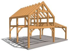 Heavy Timber Cabin with Loft - Timber Frame HQYou can find Timber frames and more on our Heavy Timber Cabin with Loft - Timber Frame HQ Cabin House Plans, Cabin Floor Plans, Tiny House Cabin, Barn Plans, Cabin Homes, Small House Plans, Timber Frame Cabin, Timber Frames, Porches