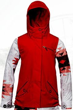 Roxy Rizzo Jacket Tango Red/White Navajo Womens