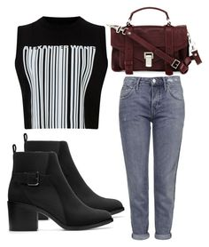 """""""Untitled #3024"""" by evalentina92 ❤ liked on Polyvore featuring Topshop, Alexander Wang, Zara and Proenza Schouler"""