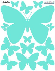 Create-A-Mural - Butterfly Wall Decals-Mint Green, $7.99 (http://www.create-a-mural.com/butterfly-wall-decals-mint-green.html/)