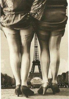Vintage Paris... showing off the legs!