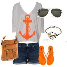 nautical beach outfit.