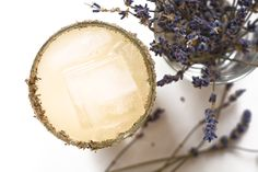 Lavender Paloma 3 oz. fresh grapefruit juice 2 oz. mezcal ½ oz. lavender simple syrup