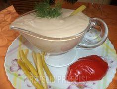 sos do frytek, kurczaka, sałatek gotowanych na parze