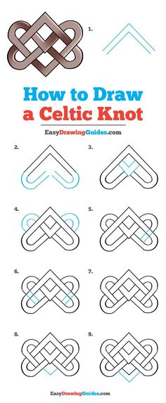 how to draw celtic knots step by step * knots celtic . how to draw celtic knots . celtic knots meaning . how to draw celtic knots step by step . Easy Drawing Tutorial, Easy Drawing Patterns, How To Draw Patterns, Celtic Symbols, Celtic Art, Mayan Symbols, Egyptian Symbols, Ancient Symbols, Celtic Dragon