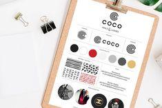 Portfolio project: Coco brand board | Beehive Green Design Studio
