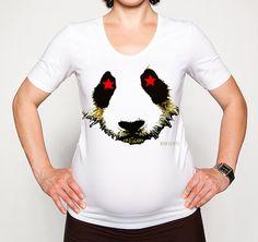Star Panda Bear With Star Eyes Original Art by WinkinBitsy on Etsy