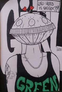 Ufo girl....  Sketchbook