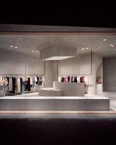 Studio Goss takes cues from brutalism for Melbourne clothing store Clothing Store Interior, Clothing Store Design, Boutique Interior, Clothing Stores, Retail Interior Design, Retail Store Design, Retail Stores, Store Interiors, Commercial Interiors