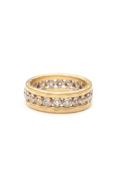 49a18e09ac1c Annie Fensterstock Yellow Gold Diamond Ring by Annie Fensterstock from Amanda  Pinson Jewelry