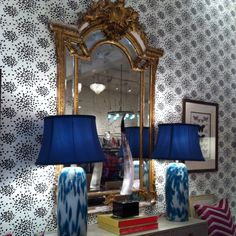 Great Jones Home in Seattle. Those lamps. That bossy mirror. There is too much to love here. I would need to become a different person to live with all of this. I am willing to try...