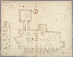 1690, Plan of the enclosure at Plaisance (Placentia) in Newfoundland, Trade - Library and Archives Canada