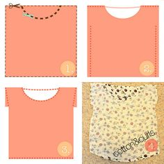 Super easy square top by Cotton & Curls