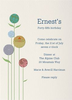Poppies Paperless PostInvitation DesignBirthday Party InvitationsRsvpPoppiesPoppyPoppy Flowers