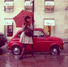 polka dots even brighten a rainy day :)