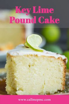 Scratch made Key Lime Pound Cake Recipe with Key Lime Glaze - A sweet, moist, dense key lime pound cake drizzled with a tart key lime glaze. #cake #poundcake #poundcakerecipe #poundcakepaula #dessert #recipes #callmepmc #Southernfood #Southernrecipes #moist Homemade Pound Cake, Pound Cake Recipes, Homemade Desserts, No Bake Desserts, Key Lime Glaze, Key Lime Pound Cake, Cupcake Cakes, Cupcakes, Southern Desserts