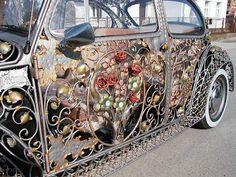 Rose Gold Filigree VW Beetle By VRBANUS