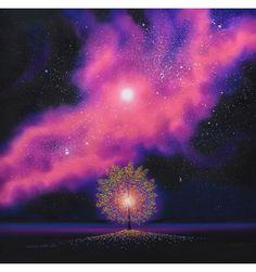 Tree of Light and Magenta Nebula - Maurice Bishop