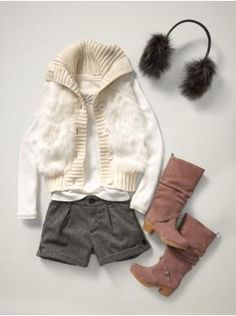 Tween clothes the daughter would LOVE...she has the boots AND the fur earmuffs...just need the rest of the ensemble.