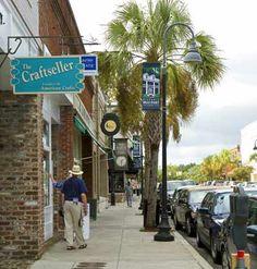 Downtown Beaufort, South Carolina.