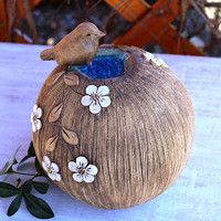Garden Totems, Pinch Pots, Ceramic Clay, Paper Mache, Bird Houses, Diy And Crafts, Christmas Bulbs, Tea Cups, Carving