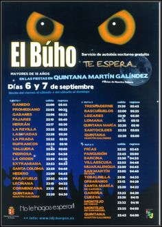 Servicio de autobus nocturno gratuito a las fiestas de Quintana martin Galindez 6 y 7 de Septiembre Las Merindades