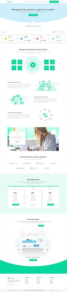 Appian Landing page PSD Template Psd templates and Template - product review template