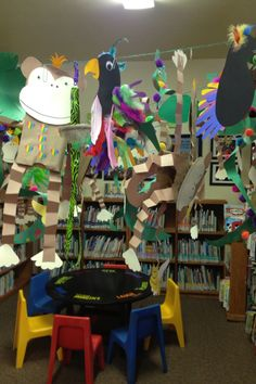 """It's a jungle"" at the Ione Branch Library. July 2014."
