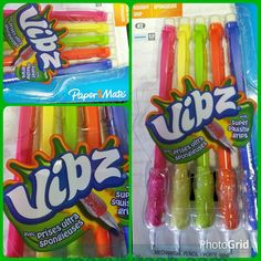 Paper Mate Vibz Super Squishy Grips mechanical pencils sealed package kitschy