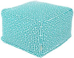 Large Turquoise Ottoman @ Majestic Home Goods Pacific Towers on ebay