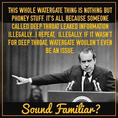 NOT TRUE-FAKE NEWS: A meme hinting at parallels between President Donald Trump and the Watergate scandal was based on a quote that does not appear to be real.