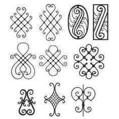 Wrought iron elements vol formats include OBJ, FBX, BLEND, architecture, ready for animation and other projects Window Grill Design Modern, House Window Design, Grill Door Design, Iron Gate Design, Wrought Iron Decor, Metal Bending, 3d Modelle, Iron Furniture, Railing Design