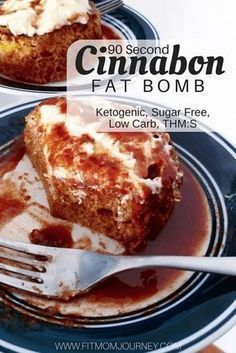 Craving a keto cinnamon roll? Try my 90-Second Keto Cinnamon Roll in a mug! It's a THM:S, ketogenic, sugar-free, low carb, and grain free! #SugarSweet