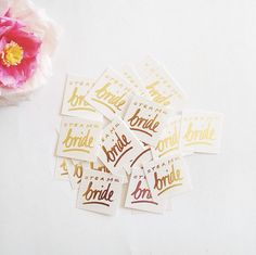 """Team Bride"" temporary tattoos - perfect for bachelorette party favors or bridesmaid gifts"