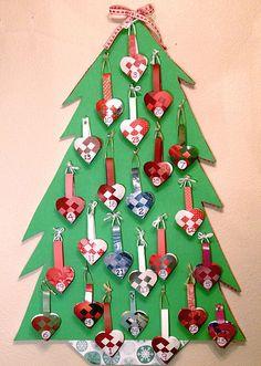 Advent Calendar Tree by gingerbread_snowflakes, via Flickr
