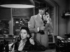 Rosalind Russell & Cary Grant (His Girl Friday, Good Movies On Netflix, Old Movies, Cary Grant, Hollywood Actresses, Actors & Actresses, Columbia, Howard Hawks, Rosalind Russell, Gentlemen Prefer Blondes